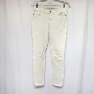 7 For All Mankind White Skinny Jean size 26